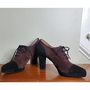 Vintage Yves Saint Laurent Lace Up Oxford Heel